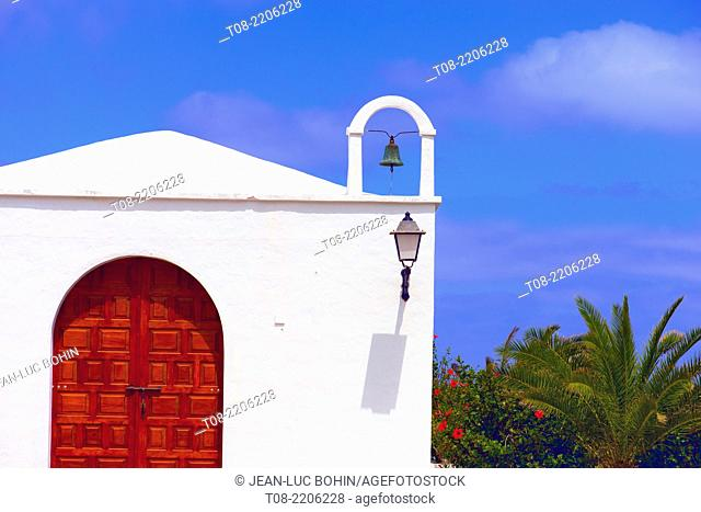 spain,canary islands,lanzarote : church