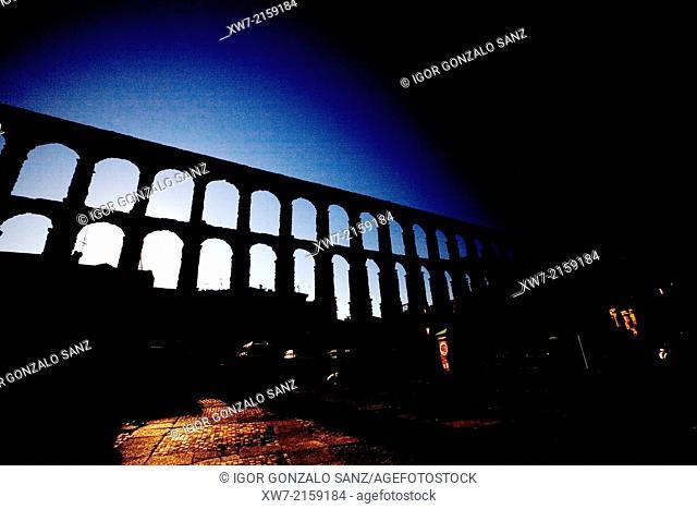 Roman aqueduct of Segovia, Segovia, Castilla y Leon, Spain