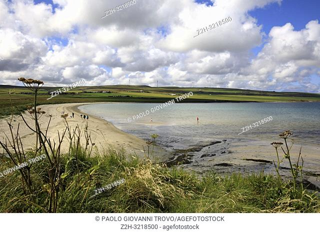 A beach near Broch of Gurness, Orkney, Scotland, Highlands, United Kingdom