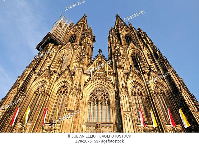 The west front of Cologne cathedral or the Dom