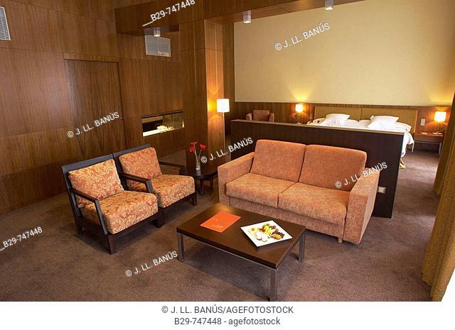 Room in Golf Vichy Catalan hotel. Girona province, Catalonia, Spain