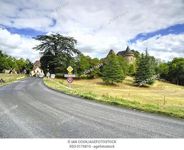 Chateau de Montclera, Montclera, Lot Department, Occitanie, France