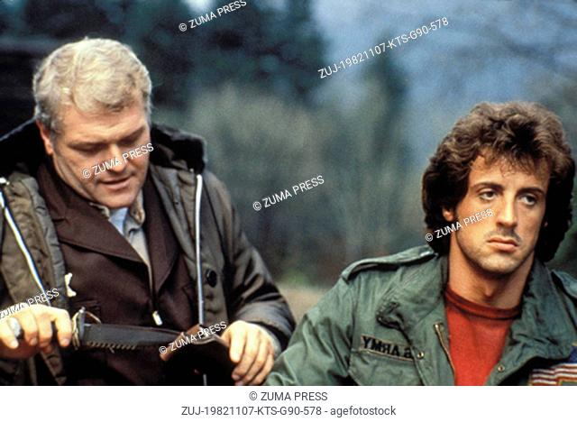 Nov 07, 1982; Hollywood, CA, USA; Image from director Ted Kotcheff's drama action 'Rambo: First Blood' starring BRIAN DENNEHY as Hope Sherriff Will Teasle and...