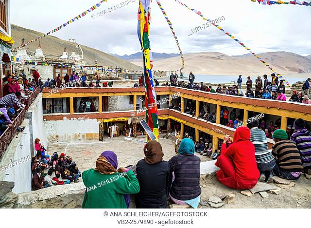 Gu-stor festival in Korzok monastery. Nomad summer festival in Tso Moriri lake, Ladakh (India)