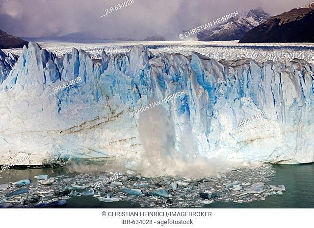 Broken ice at the glacier Perito Moreno, National Park Los Glaciares, Argentina, Patagonia, South America