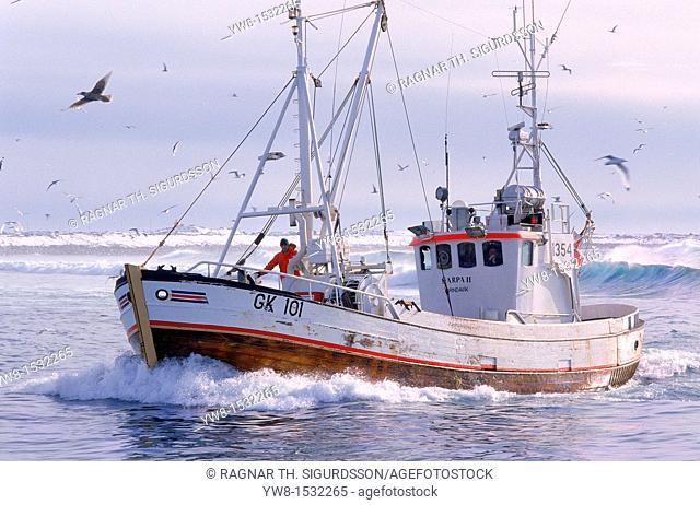 Fisherman on Trawler, North Atlantic Iceland