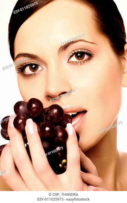 Sexy Woman Eating Green Grape Stock Photos And Images Age