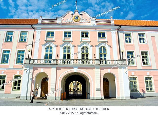Toompea castle, housing Riigikogu, the national assembly, Lossiplats, Toompea, Old town, Tallinn, Estonia