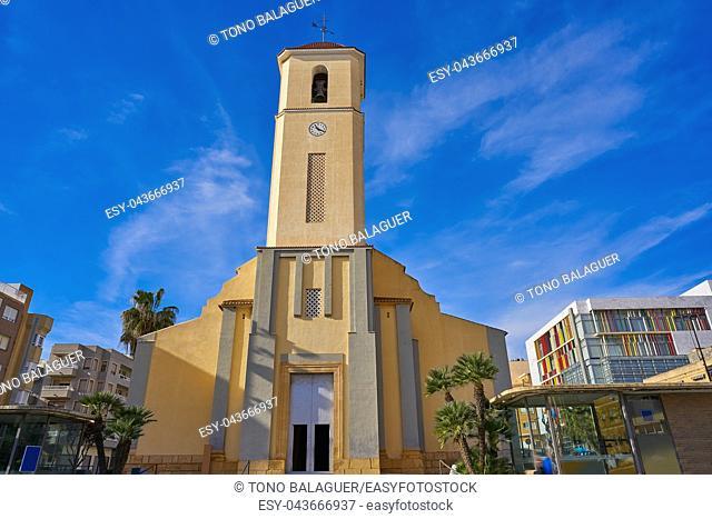 Guardamar del Segura San Jaime church in Alicante of Spain