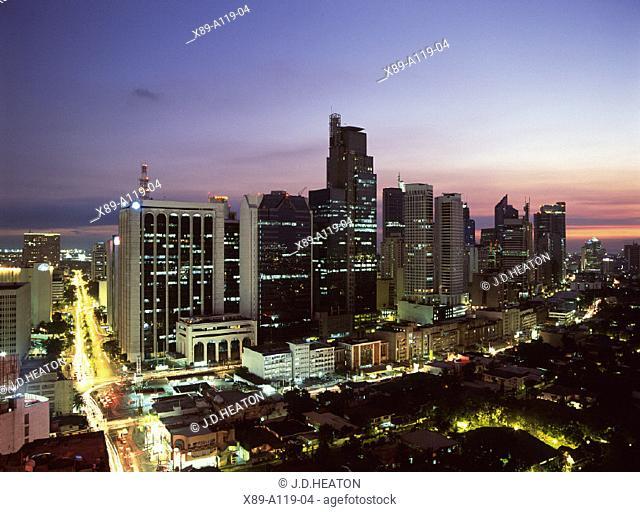 Manila, Makati, Sunset, Philippines