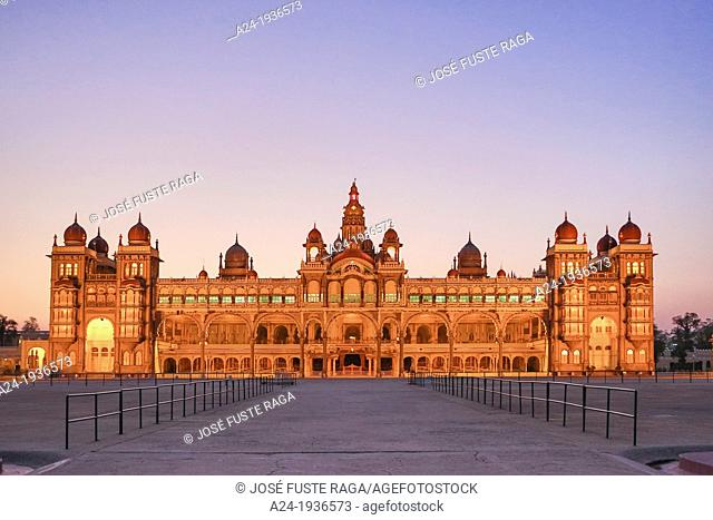 India , Karnataka State , Mysore City, Mysore Palace