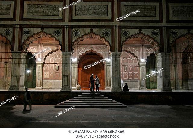 Entrance to the Jami Masjid Mosque, Delhi, India, Asia