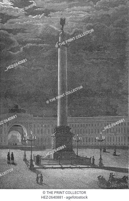 'The Column Alexander, St. Peterssburg', c1900. Artist: Unknown