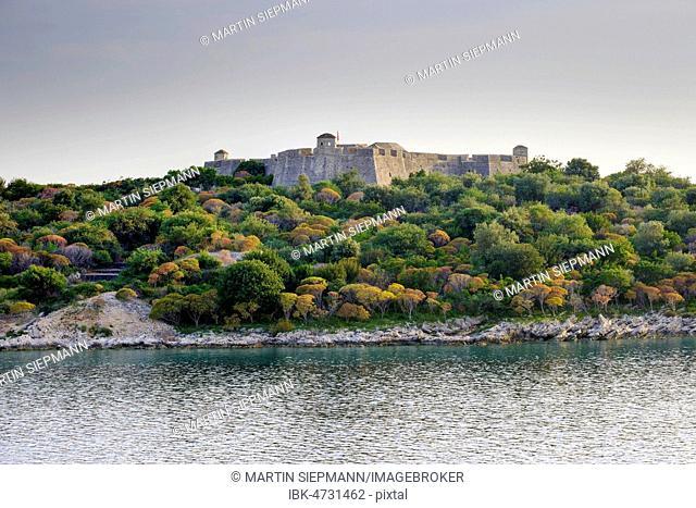 Fortress Porto Palermo, Kalaja e Porto Palermos, near Himara, Albanian Riviera, Qark Vlora, Albania