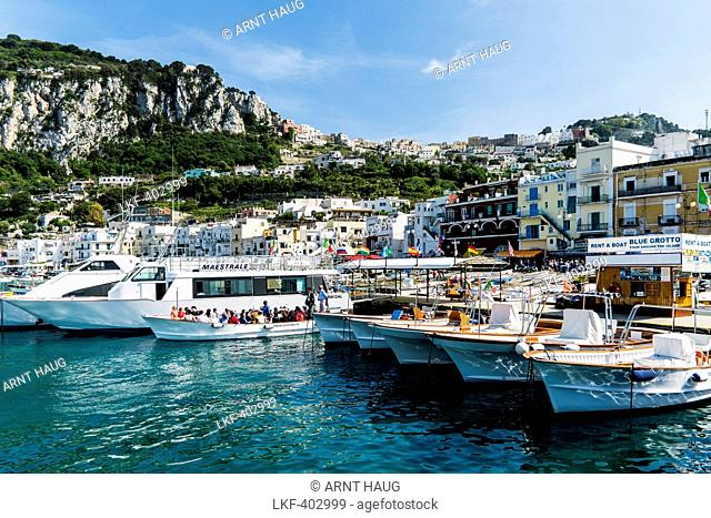 Harbour of Marina Grande, Capri, Campania, Italy