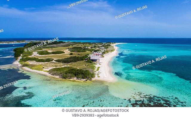 Madrisqui Aerial View. ALos Roques Nat. Park Venezuela