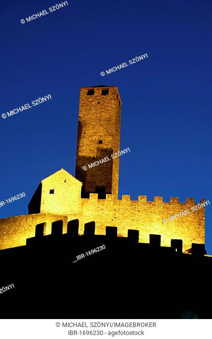 Three Castles of Bellinzona, UNESCO World Heritage Site, Bellinzona, Ticino, Switzerland, Europe