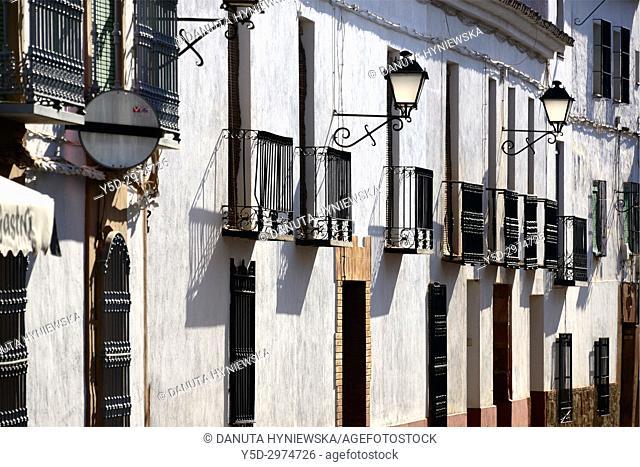 street scene, Villanueva de los Infantes, Ruta de Don Quijote, province of Ciudad Real, Castile-La Mancha, Spain, Europe