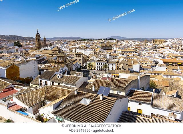Panoramic view, Antequera. Málaga province, Andalusia. Southern Spain Europe