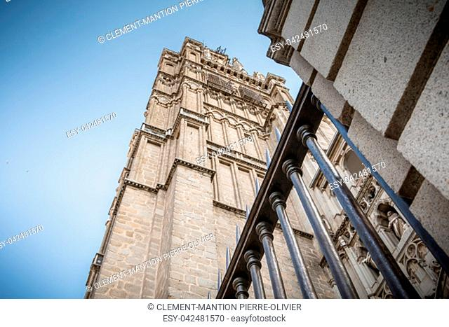 architectural detail of St. Mary's Cathedral of Toledo