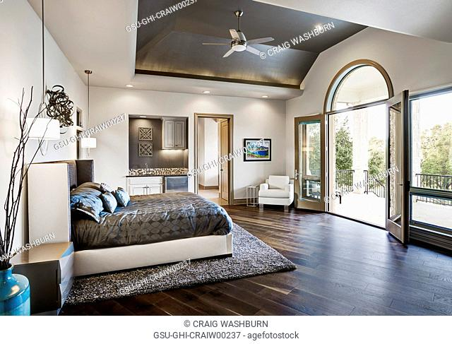 Master bedroom vaulted ceiling Stock Photos and Images | age ...
