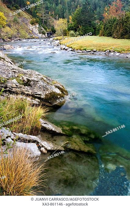Ara river at Bujaruelo valley  Huesca province, Aragon, Spanish pyrenees