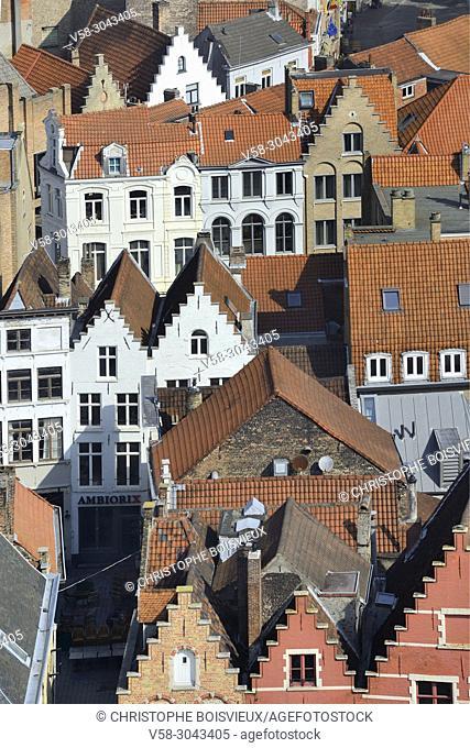 Belgium, Bruges, World Heritage Site, Traditional flemish houses
