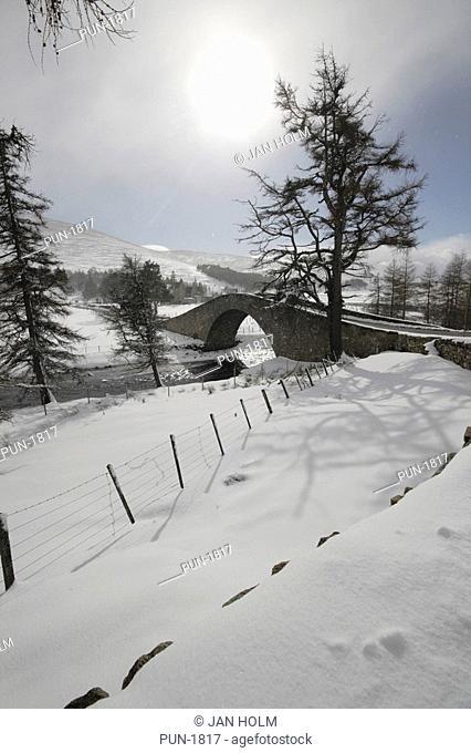 Historic bridge at Gairnshiel near Balmoral