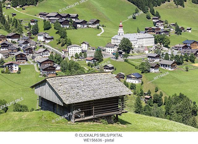 The village of Maria Luggau and the pilgrimage church, Maria Luggau, Lesachtal, Hermagor District, Carinthia, Austria
