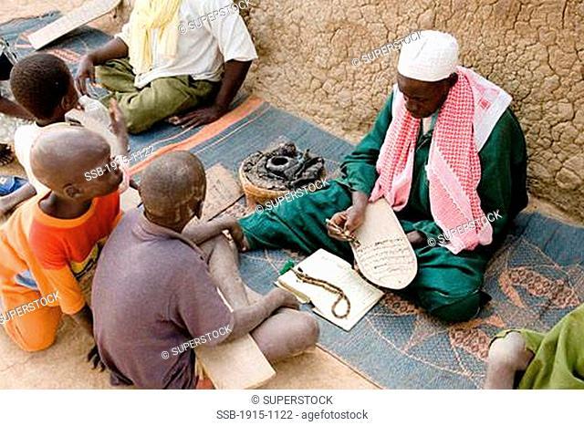 Children Studying the Koran Djenne Mali