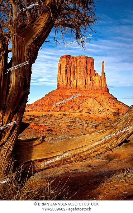 West Mitten, Monument Valley, Navajo Tribal Park, Arizona USA