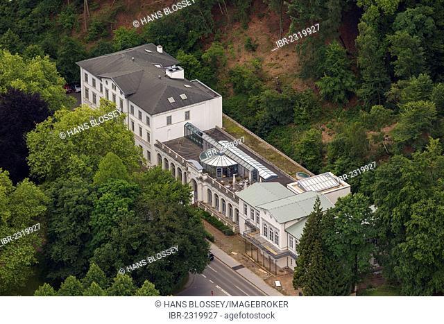 Aerial view, Kleve museum and spa hotel, Kleve, Lower Rhine region, North Rhine-Westphalia, Germany, Europe