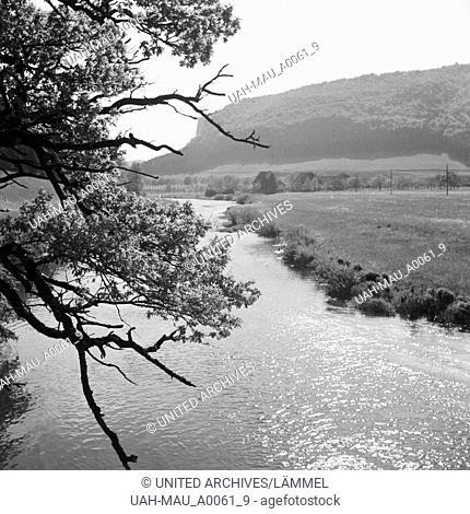 Tal der oberen Donau, Deutschland 1930er Jahre. Upper Danube valley, Germany 1930s