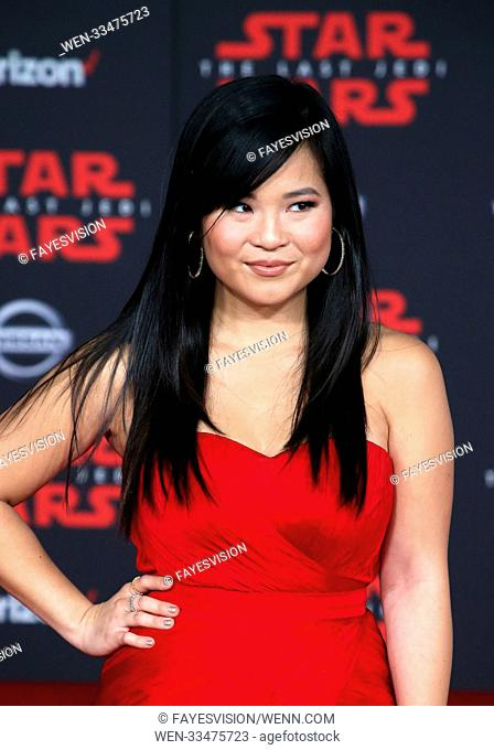 Premiere Of Disney Pictures And Lucasfilm's 'Star Wars: The Last Jedi' Featuring: Kelly Marie Tran Where: Los Angeles, California