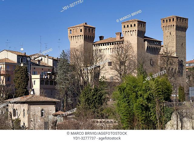 Vignola, Modena, Emilia Romagna, Italy. The Castle (Rocca), built in the Carolingian era but known from 1178; it was turned into a patrician residence by the...