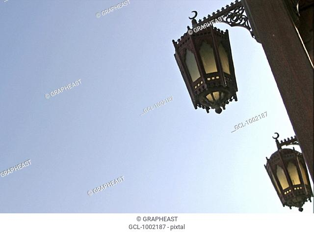 Street lights in the Old Souk in Dubai, United Arab Emirates
