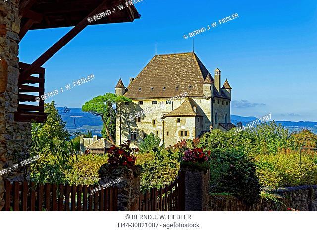 Häuser, alt, typisch, Chateu d'Yvoire, Genfer See