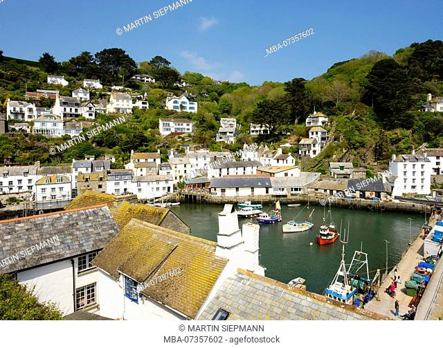 Fishing port, Polperro, Cornwall, England, UK