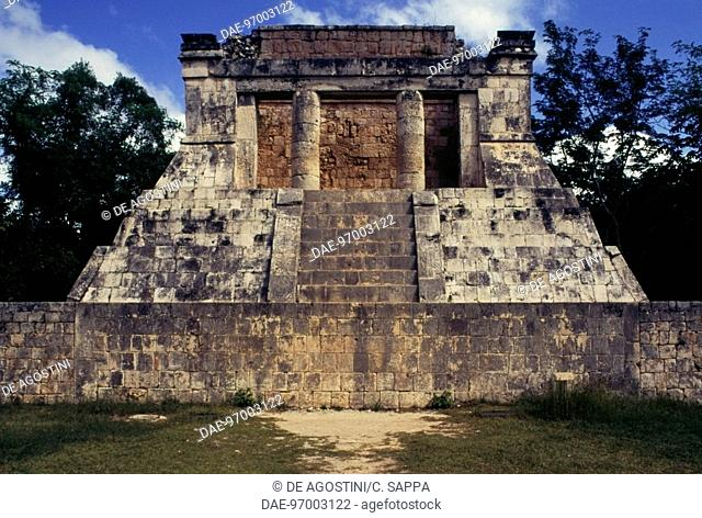 Temple of the Bearded Man, Chichen Itza (UNESCO World Heritage List, 1988), Yucatan, Mexico. Mayan civilisation, 4th-10th century