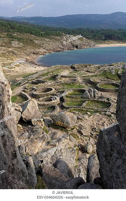 Castro de Baroña, Porto Do Son, La Coruña, Galicia, Spain