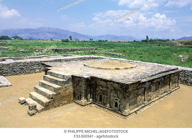 Archeological site of Taxila dating from the 6th or 7th century BCE to 3rd century CE. Punjab, Pakistan
