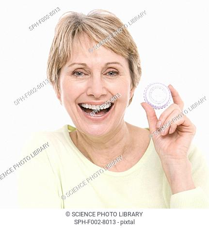 Hormone replacement therapy pills