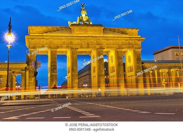 Brandenburg Gate, Brandenburger Tor, Berlin, Germany, Europe