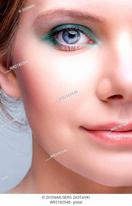 Close-up shot of female face