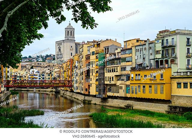 View from the river, Gerona