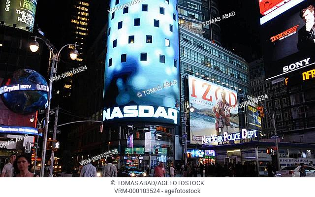 NASDAQ Stock Market site building, 42nd Street, Times Square, New York City, USA