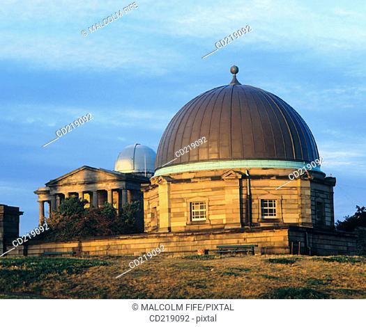 Old and new Observatory, Calton Hill. Edinburgh. Scotland