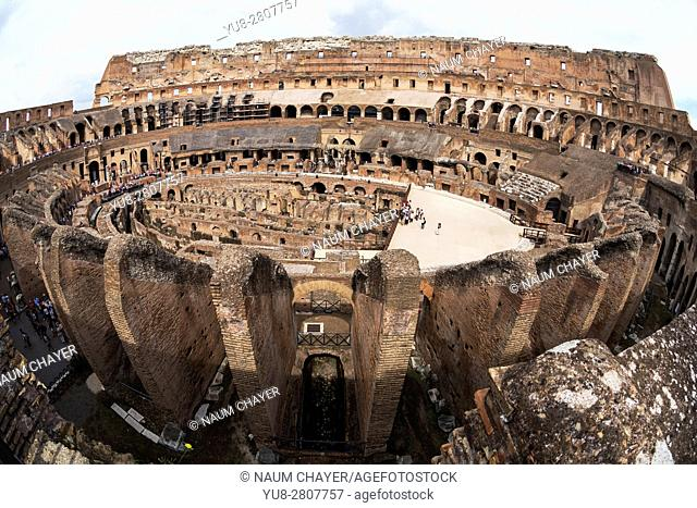 The world famous Colosseum arena, Rome, Italy, Europe