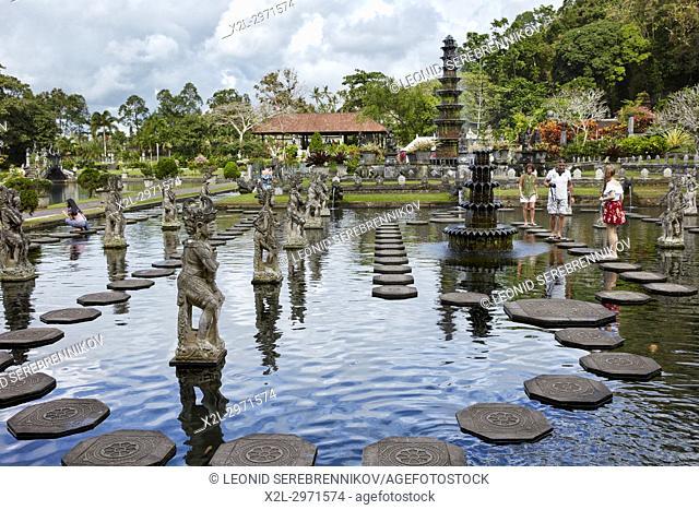 Tirta Gangga water palace, a former royal palace. Karangasem regency, Bali, Indonesia