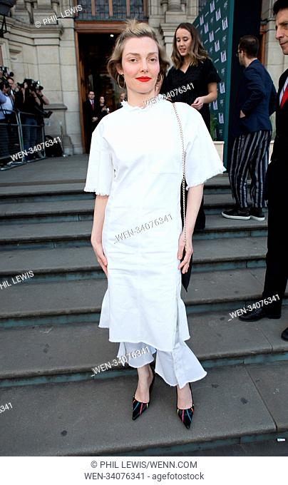 Guests attend Fashioned From Nature VIP Preview At V&A Featuring: Camilla Rutherford Where: London, United Kingdom When: 18 Apr 2018 Credit: Phil Lewis/WENN